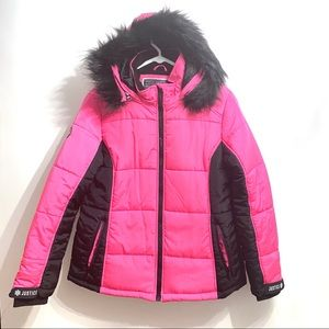 Justice Snow Gear Girls 20P Hooded Winter Jacket